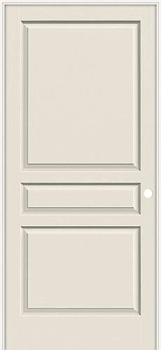 """6'8"""" 3-Panel Textured Molded Interior Prehung Door Unit"""
