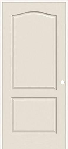 """6'8"""" 2-Panel Eyebrow Textured Molded Interior Prehung Door Unit"""