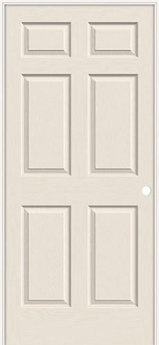 """6'8"""" 6-Panel Textured Molded Interior Prehung Door Unit"""