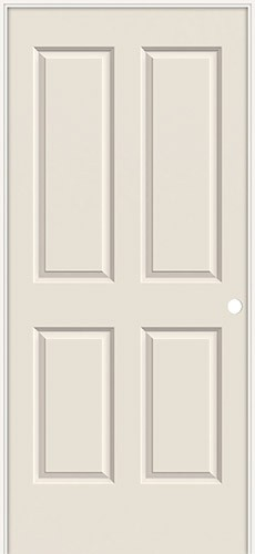 "6'8"" 4-Panel Smooth Molded Interior Prehung Door Unit"