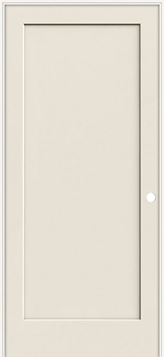 "6'8"" 1-Panel Flat Smooth Molded Interior Prehung Door Unit"