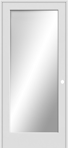 "6'8"" Tall Mirror 1-Lite Shaker Interior Prehung Wood Door Unit"