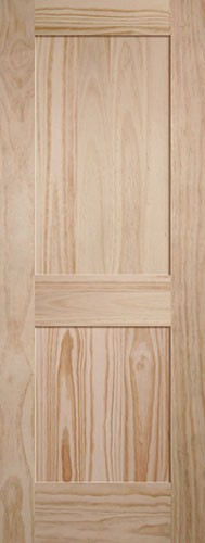 Cheap 6 8 Quot Tall 2 Panel Shaker Pine Interior Wood Door Slab