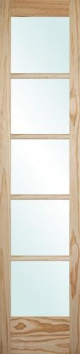 "6'8"" Tall 5-Lite Pine Interior Wood Door Slab"