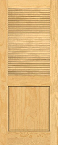 "6'8"" Tall Traditional Louver Panel Pine Interior Wood Door Slab"