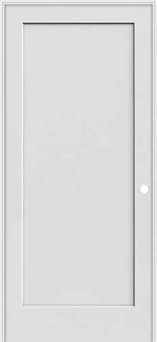 "6'8"" Tall 1-Panel Shaker Primed Interior Prehung Wood Door Unit"