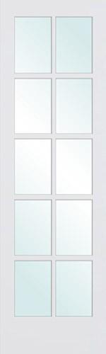 """6'8"""" Tall 10-Lite Primed Interior Wood Door Slab"""
