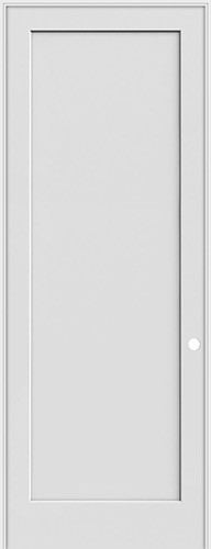 "8'0"" Tall 1-Panel Shaker Primed Interior Prehung Wood Door Unit"