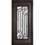 "46"" x 97"" Affinity Prehung Iron Door Unit"