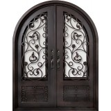 "74"" x 97"" Blossom Prehung Iron Double Door Unit"