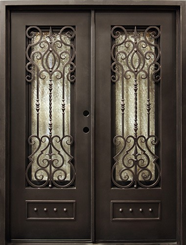 "62"" x 81"" Baton Rouge Iron Prehung Double Door Unit"