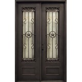 "62"" x 97"" Texas Star Iron Prehung Double Door Unit"
