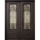 "74"" x 97"" Baton Rouge Iron Prehung Double Door Unit"