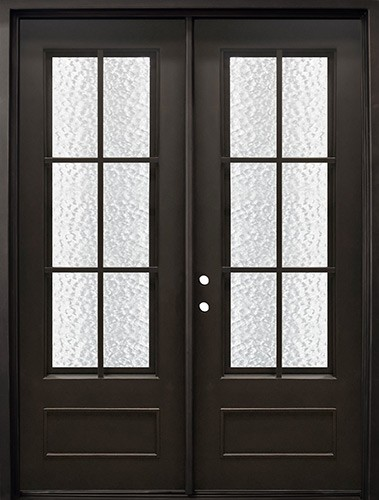 "74"" x 97"" Tiffany Iron Prehung Double Door Unit"