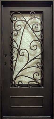 "37"" x 81"" Roman Iron Prehung Door Unit"