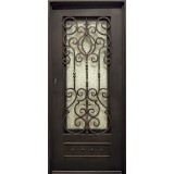"37"" x 81"" Baton Rouge Iron Prehung Door Unit"