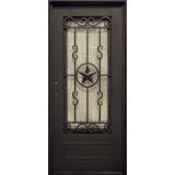 "37"" x 81"" Texas Star Iron Prehung Door Unit"