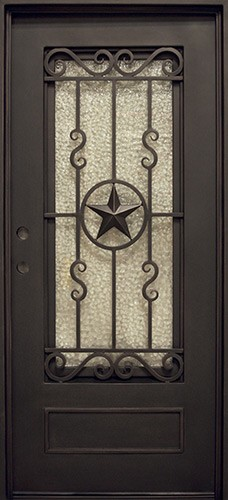 "37"" x 81"" Texas Star Iron Prehung Door Unit"