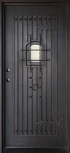 "37"" x 81"" Castle Iron Prehung Door Unit"