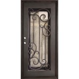"37"" x 81"" Athenian Iron Prehung Door Unit"