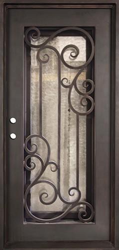 """37"""" x 81"""" Athenian Iron Prehung Door Unit"""