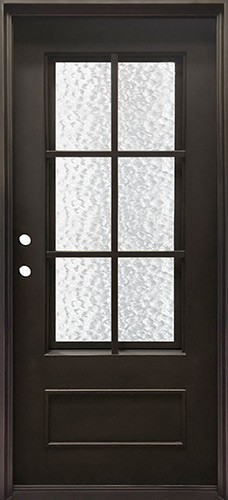 """37"""" x 81"""" Tiffany Iron Prehung Door Unit"""