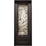 "38"" x 97"" Roman Iron Prehung Door Unit"