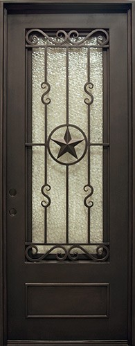 "38"" x 97"" Texas Star Iron Prehung Door Unit"