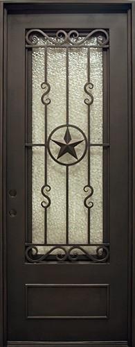 "38"" x 97"" Texas Star Iron Prehung Door Unit"