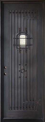 "38"" x 97"" Castle Iron Prehung Door Unit"