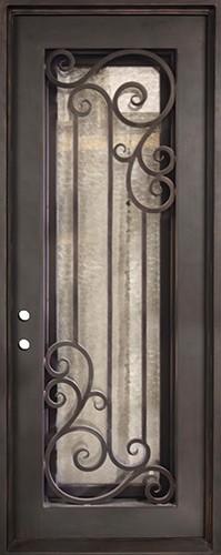 """37"""" x 97"""" Athenian Iron Prehung Door Unit"""