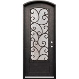 "38"" x 98"" Cascade Iron Arch Prehung Door Unit"