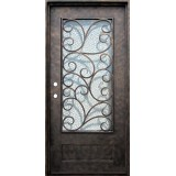 "38"" x 81"" Cascade Iron Prehung Door Unit"