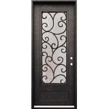 "38"" x 98"" Cascade Iron Prehung Door Unit"