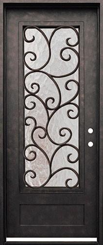 "38"" x 98"" Cascade Iron Prehung Door Unit"