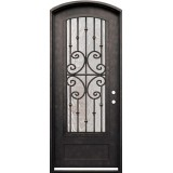 "38"" x 98"" Forte Iron Arch Prehung Door Unit"