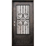 "38"" x 81"" Forte Iron Prehung Door Unit"