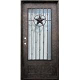 "38"" x 81"" Texas Star Iron Prehung Door Unit"
