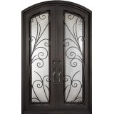 "62"" x 97"" Summer Breeze Prehung Iron Double Door Unit"