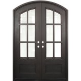 "62"" x 97"" Tiffany Prehung Iron Double Door Unit"