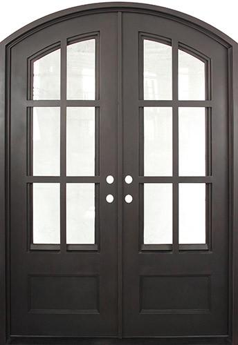 "62"" x 97"" Tiffany Prehung Iron Double Door Unit"