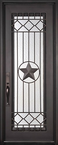 "37"" x 81"" Star Prehung Iron Door Unit"