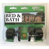 Guard Interior Doorknob Set Bed & Bath Bronze