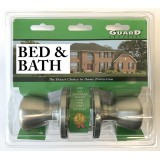 Guard Interior Doorknob Set Bed & Bath Nickel
