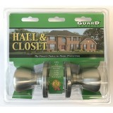 Guard Interior Doorknob Set Hall & Closet Nickel