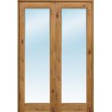 """Interior 8'0"""" 1-Lite Knotty Alder Wood Door French Unit"""