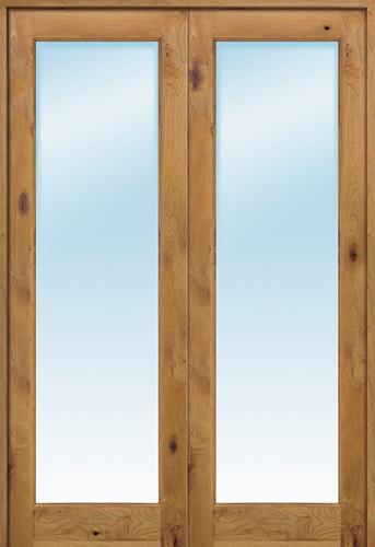 Cheap Interior 8 0 Quot 1 Lite Knotty Alder Wood Door French Unit