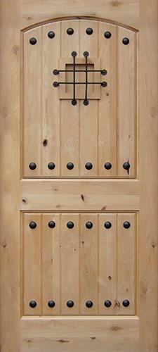 Rustic Knotty Alder Wood Door Slab #UK20