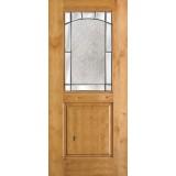 Half Lite Knotty Alder Wood Door Slab #27