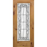 Full Lite Knotty Alder Wood Door Slab #292